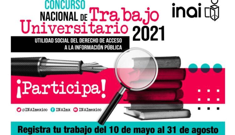 Concurso INAI de Trabajo Universitario 2021: participa hasta por $30,000 pesos