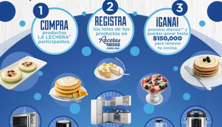 Promoción La Lechera 85 Años: Gana renovaciones de cocina de hasta $150,000 y premios diarios en recetasnestle.com.mx