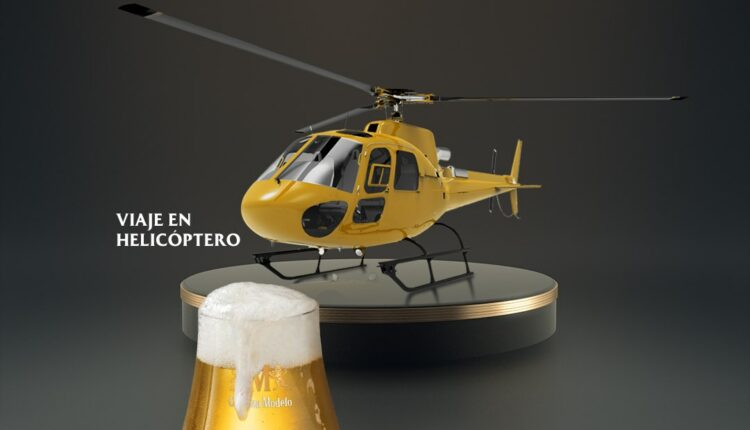 Gana viaje en helicóptero y comida para 3 amigos cortesía de Cerveza Modelo