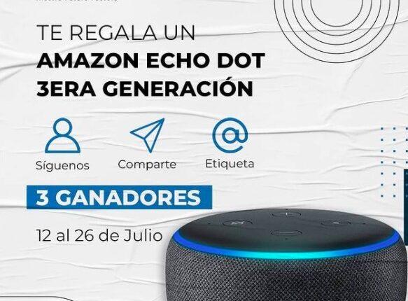 Gana una de las 3 bocinas Alexa Amazon Echo Dot cortesía de nave.mx