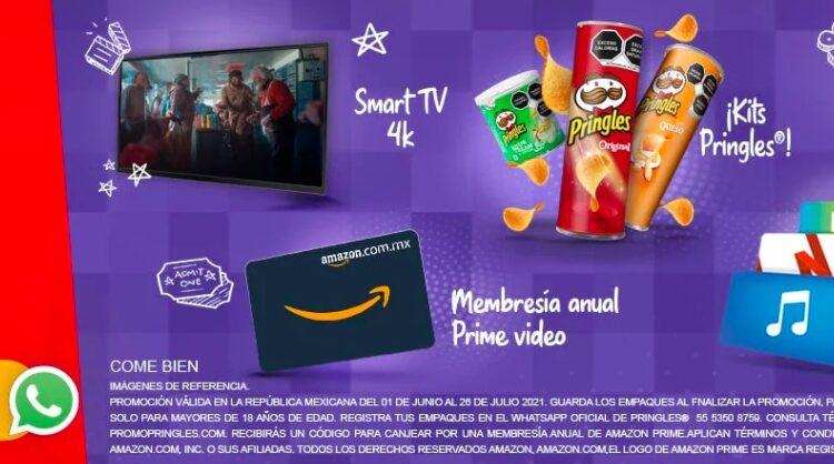 Promo Pringles Ármate el Cine 2021: Gana pantallas, puffs, membresías y más en promopringles.com
