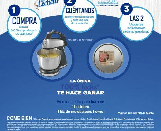 Concurso S-Mart y La Lechera: Gana batidora o kit de moldes para horno