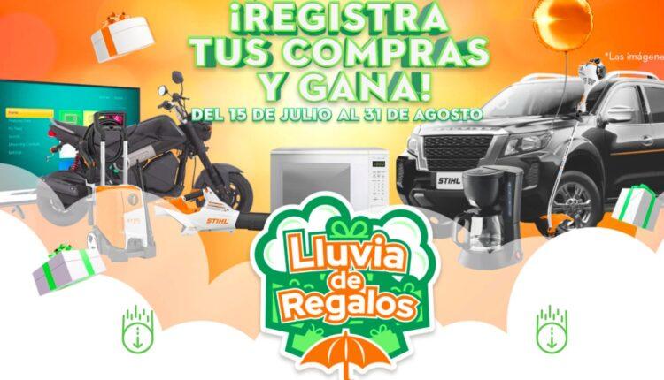 Promoción Stihl Lluvia de Regalos: Gana camioneta, moto, pantalla y más en lluviaderegalos.com