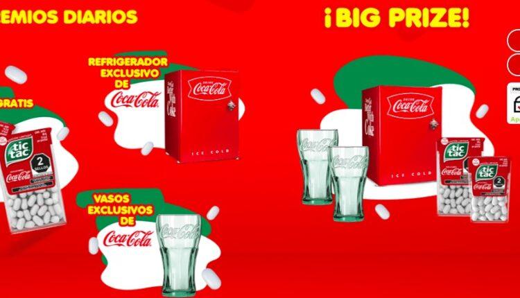 Promoción Tic Tac Coca-Cola: registra tu código y gana refris, 1 año de producto gratis y más en promotictac-cocacola.com