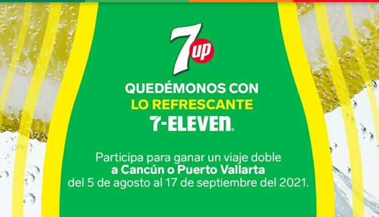 Promo 7-Eleven 7Up Quédate con lo Refrescante: Gana viaje a Cancún o Puerto Vallarta