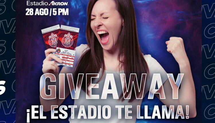 Gana boletos para el partido de las Chivas vs Necaxa cortesía de Akron