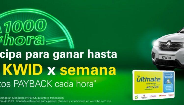 Promoción BP Payback A 1,000 por Hora: Gana 4 autos Renault Kwid cada semana