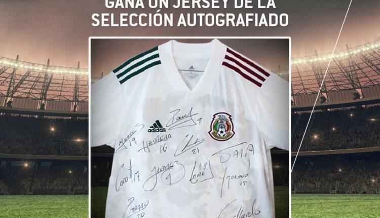 Gana 1 de 5 jerseys de la Selección Mexicana autografiados por los jugadores