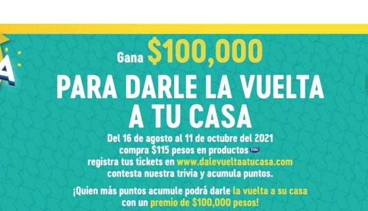Promoción Elite Softmax Dale la Vuelta a tu Casa: Gana hasta $100,000 en dalelavueltaatucasa.com