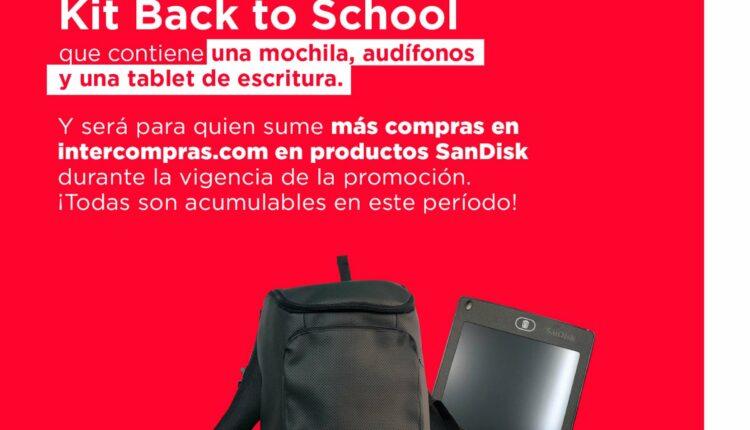 Concurso Intercompras y SanDisk: Gana kit de regreso a clases con audífonos, mochila y tablet de escritura
