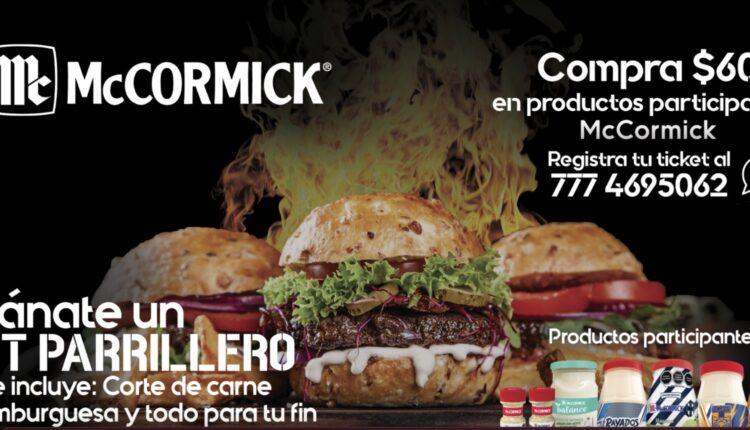 Promoción Fin de Parrilladas McCormick: Gana 1 de 90 kits de carne asada con valor de $2,000