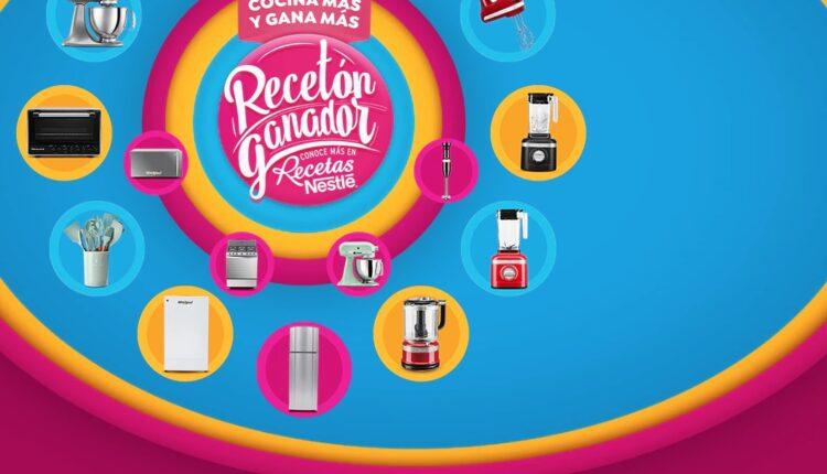 Promoción Nestlé Recetón Ganador 2021: registra tus lotes y gana refris, estufas y más en promociones.nestle.com.mx/receton