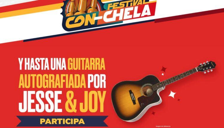 Concurso Festival Con-Chela de Oxxo: Gana guitarra autografiada por Jesse & Joy, pantallas, mini coolers y más