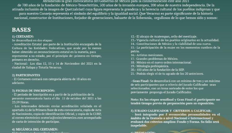 Concurso de Oratoria Ce Ácatl Topiltzin Quetzalcóatl 2021 reparte $100,000 en premios