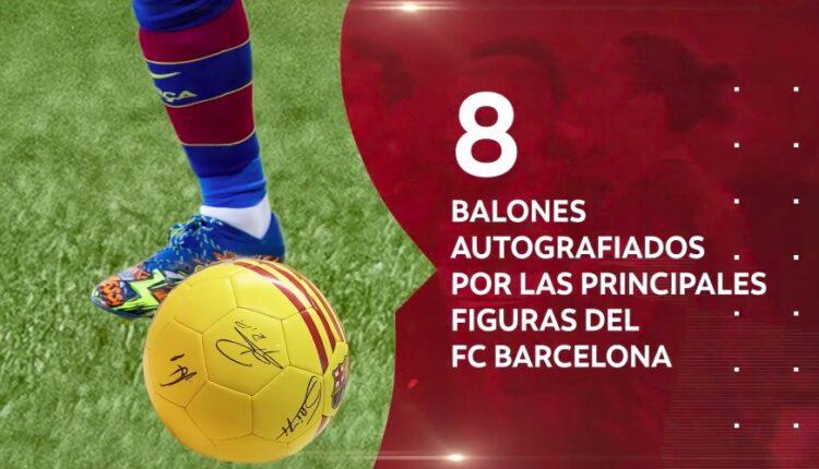 Gana 1 de 8 balones autografiados por jugadores del FC Barcelona cortesía de Scotiabank