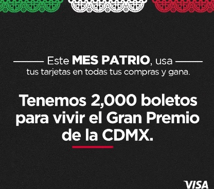 Banorte regala 1,000 boletos para la carrera de Formula 1 GP de México 2021 en banorte.com/tutarjetafavorita