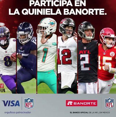 Quiniela Banorte NFL 2021: Gana viaje al Super Bowl LVI en quinielabanorte.mx