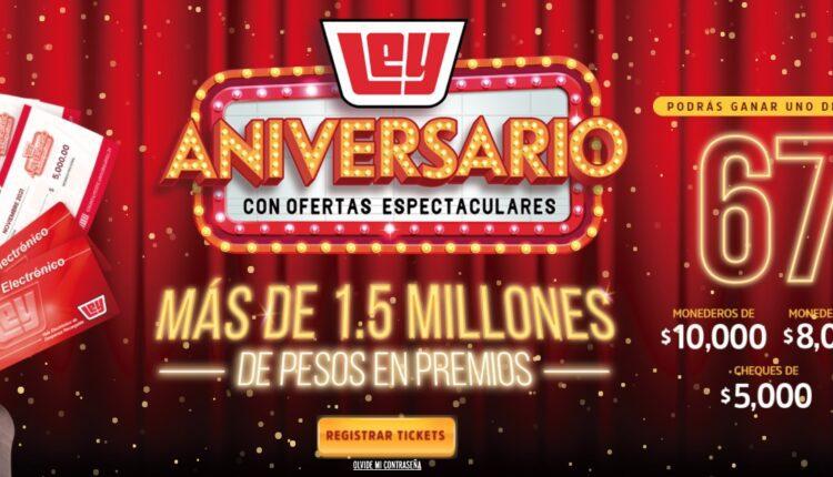 Promoción Casa Ley 67 Aniversario: Registra tu ticket y gana monederos de hasta $10,000 en casaley.com.mx