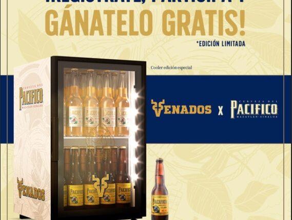 Concurso Cerveza del Pacífico Venados de Mazatlán: Gana un frigobar baby cooler