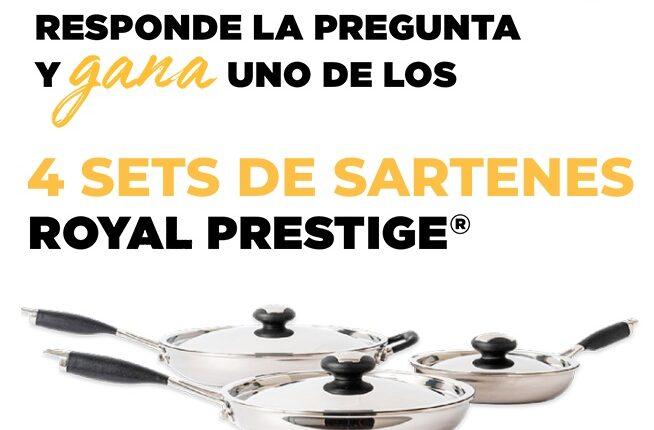 Gana 1 de 4 sets de sartenes de cocina Royal Prestige en el nuevo concurso de El Gourmet