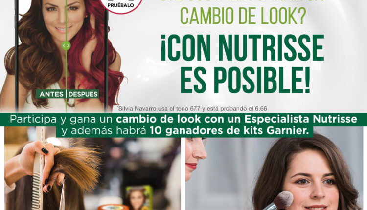 Concurso Nutrisse Garnier: Gana un cambio de look y más