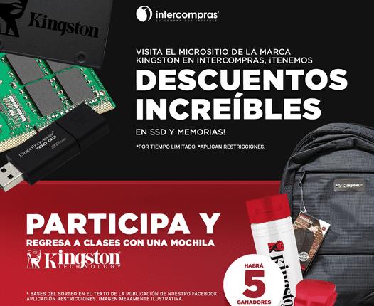 Concurso Regreso a Clases Kingston e Intercompras: Gana 1 de 5 premios de mochila + kit Kingston