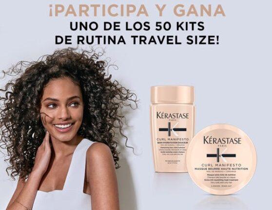 Gana uno de los 50 kits de rutina de viaje con la encuesta Kérastase
