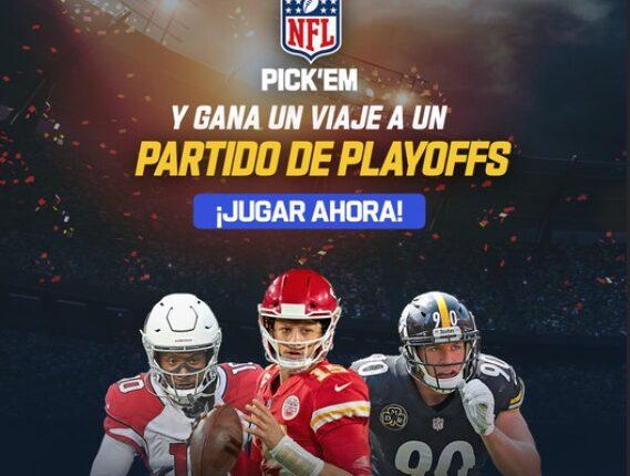 Concurso NFL Pick'Em 2021: Gana viaje a los Playoffs, jerseys y más en nflpickem.app