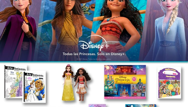 Gana 1 de 6 kits de Princesas Disney con muñecas, libro, cuaderno, juguetes y más