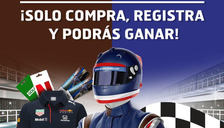 Promoción Red Bull y Snickers Arranca tu Día: Gana Xbox, Nintendo Switch, boletos para la Formula 1 y más en arrancatudia.com