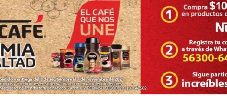 Promoción Walmart y Nescafé El Café que nos Une: Gana 1 de 120 bicicletas eléctricas