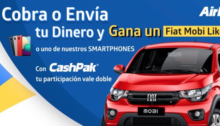 Promoción AirPak: Gana un auto Fiat Mobi Like 2021 o smartphones
