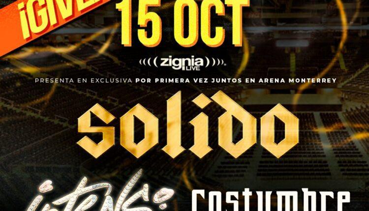 Boletos gratis para el concierto de Grupo Sólido y compañía cortesía de Arena Monterrey