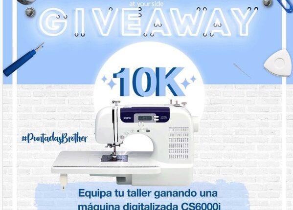 Gana una máquina de coser digitalizada CS6000i en el Giveaway 10K de Brother