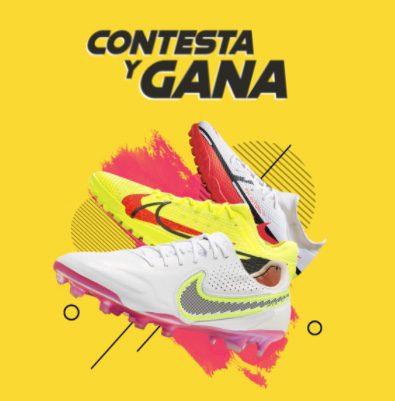 Contesta y Gana FutMaster: Gana 1 de 3 tenis de fútbol Nike o adidas