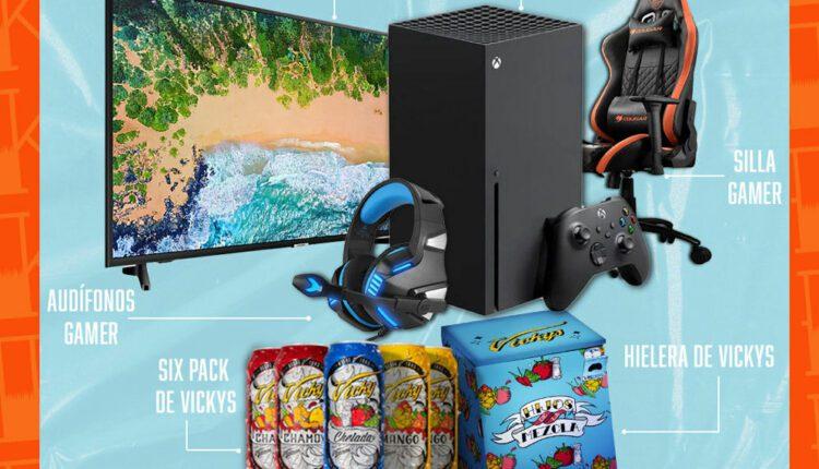 Promoción Las Vickys Referidos Gamer: Gana Xbox Series X + silla gamer + hielera y más en lasvickys.mx