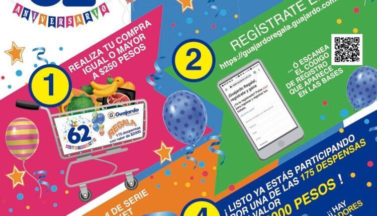 Promoción Super Guajardo Regala 62 Aniversario 2021: registra tu ticket y gana despensa de $2,000